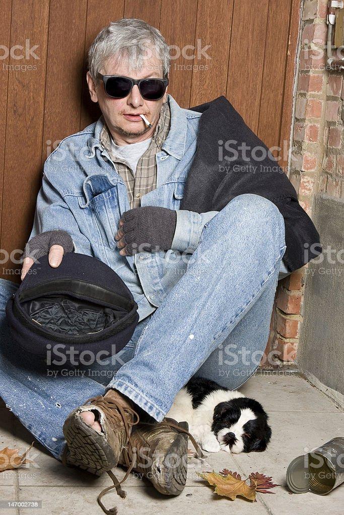 Blind beggar royalty-free stock photo