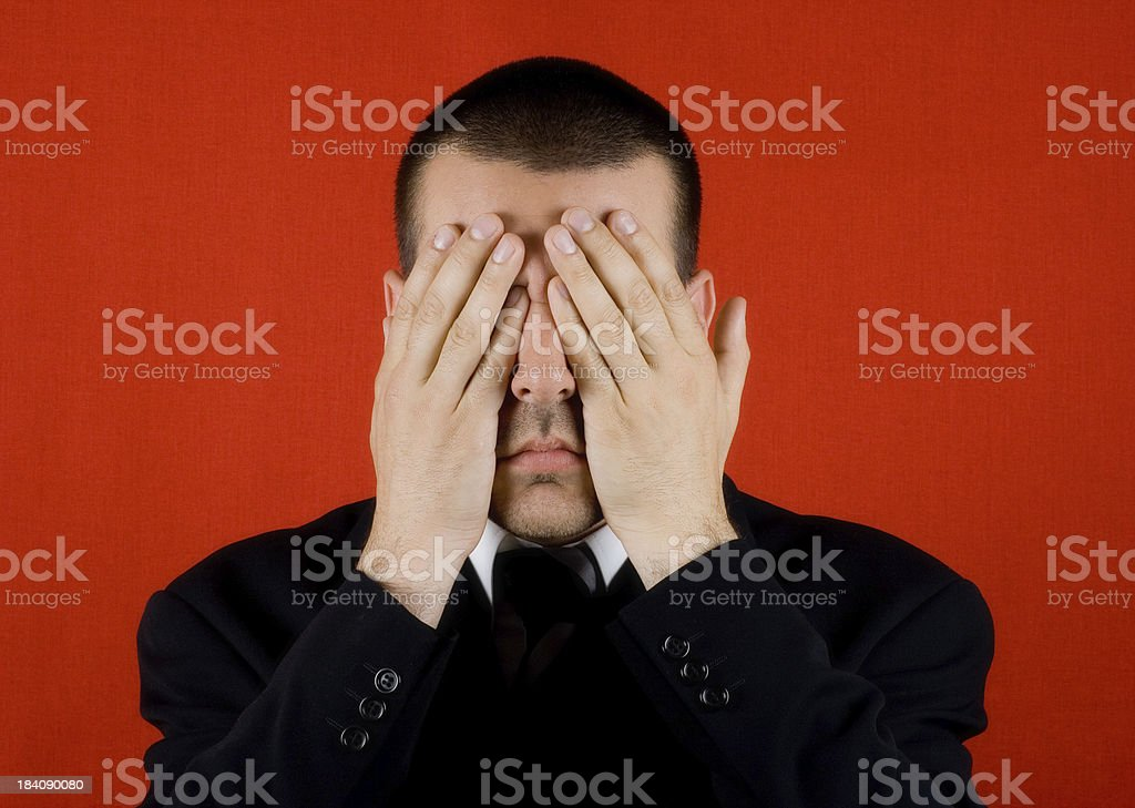 Blind business royalty-free stock photo