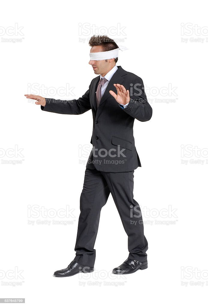 Blind business. stock photo
