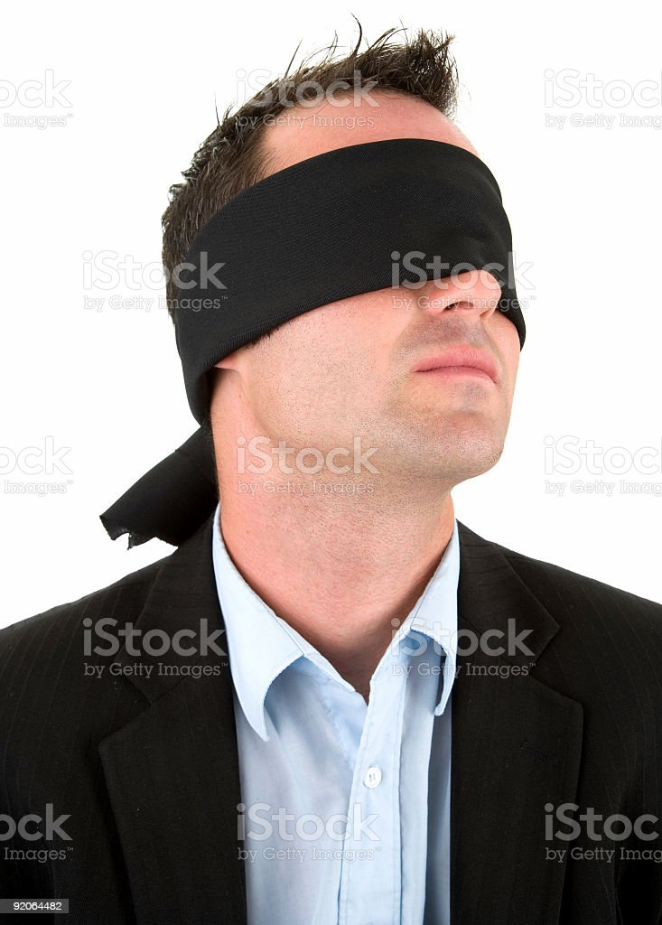 Blind Business stock photo