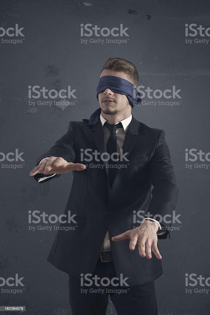 Blind businessman stock photo