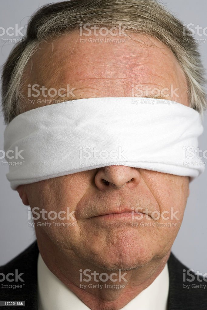 Blind Businessman royalty-free stock photo