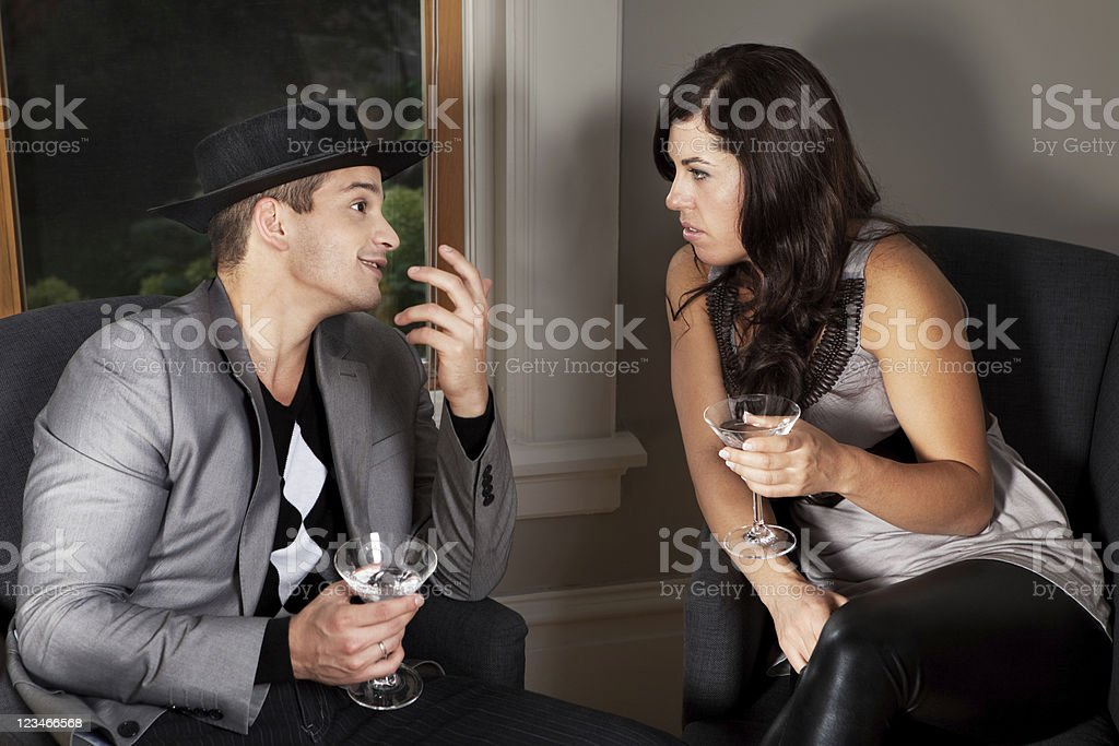 Blind date gone wrong stock photo
