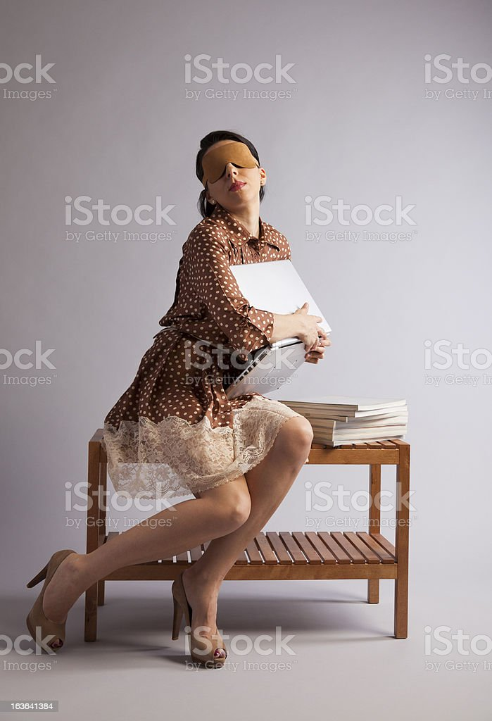 Blind Date on the Internet. Concept. royalty-free stock photo