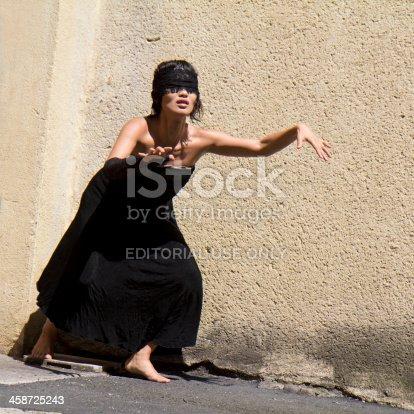 istock Blind female dancer 458725243