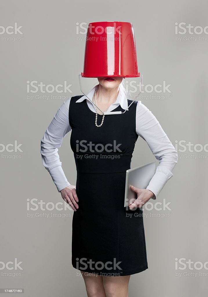 blind manager with no vision stock photo