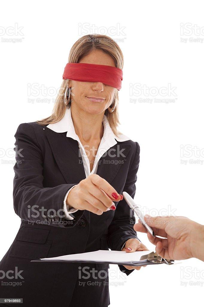 Blind signature royalty-free stock photo