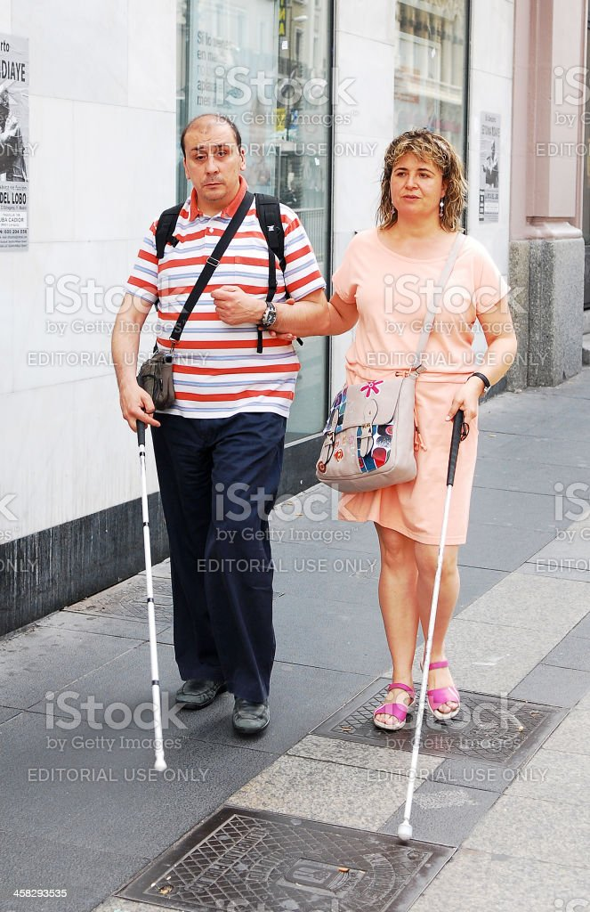 Blind walkers. stock photo