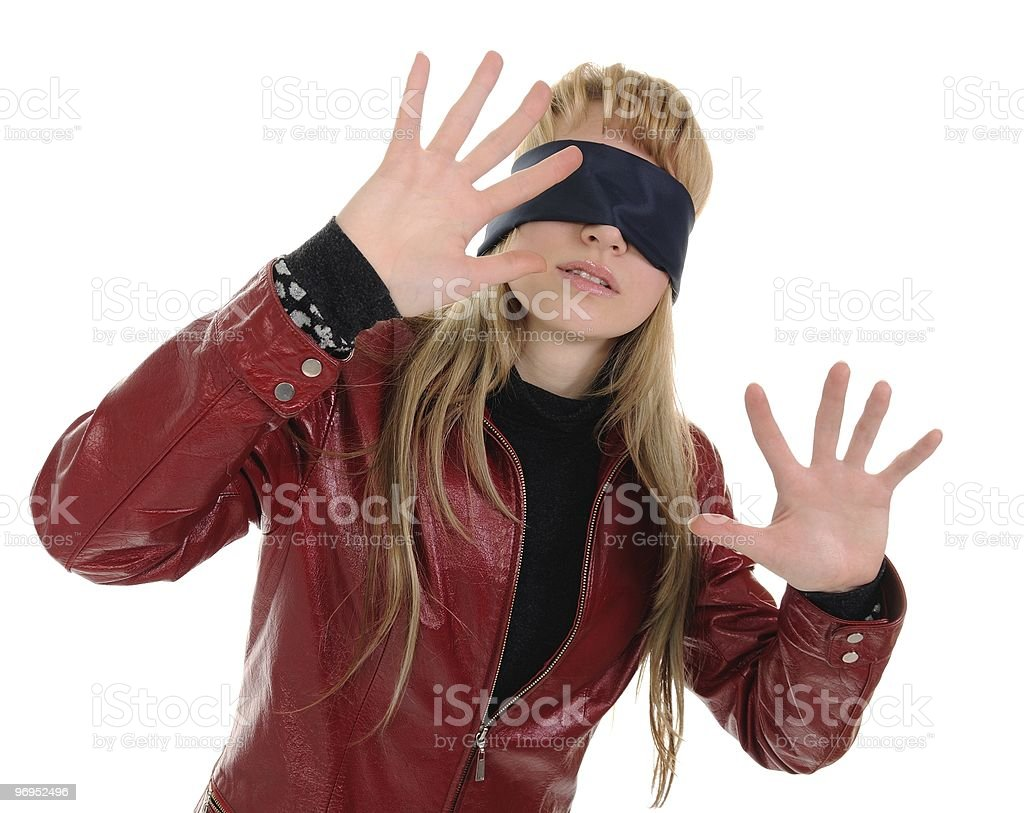 Blindfold royalty-free stock photo