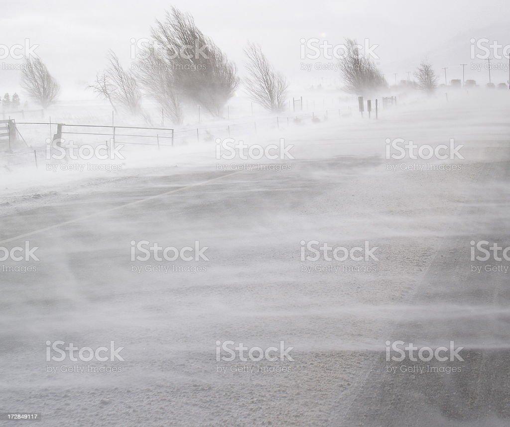 Blinding Snow stock photo