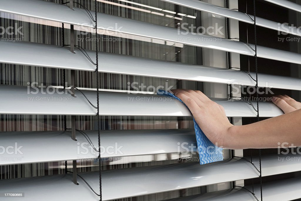 Blinds Cleaning royalty-free stock photo