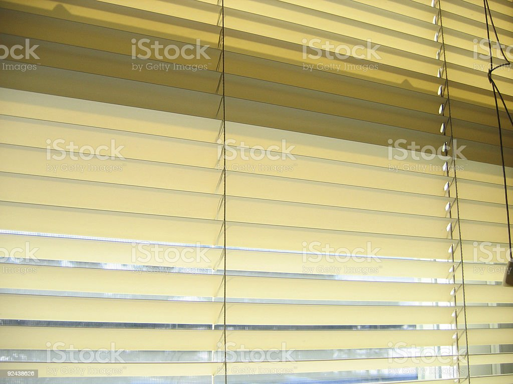 Blinds: closed royalty-free stock photo