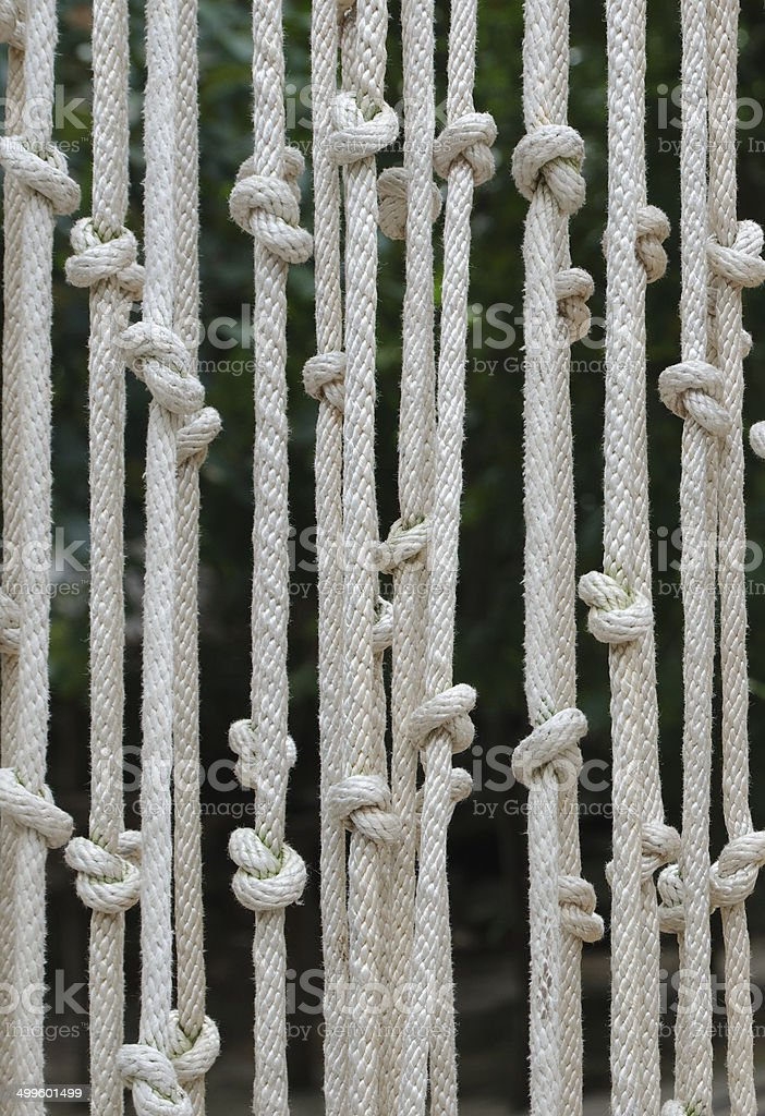 Blinds made of rope stock photo