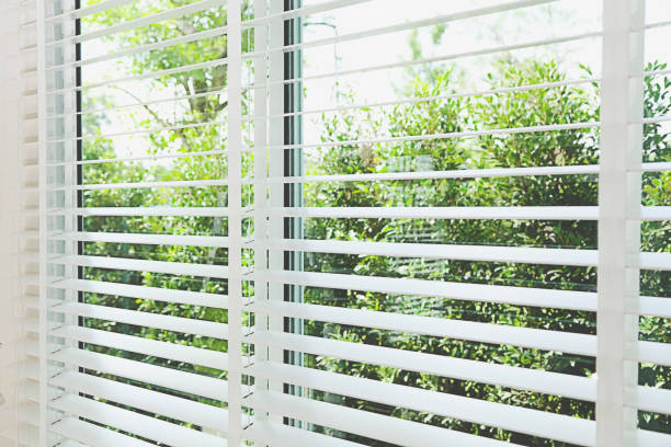 Blinds window stock photo