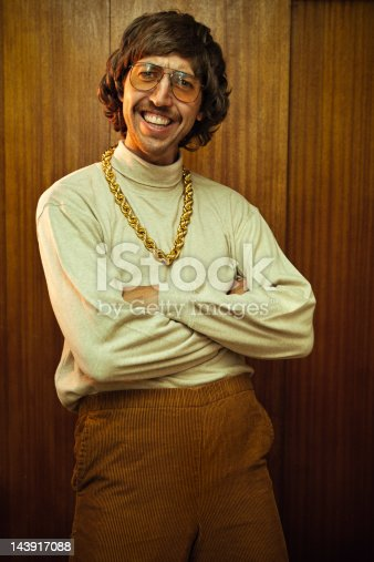 istock Bling Retro Mustache Man 143917088