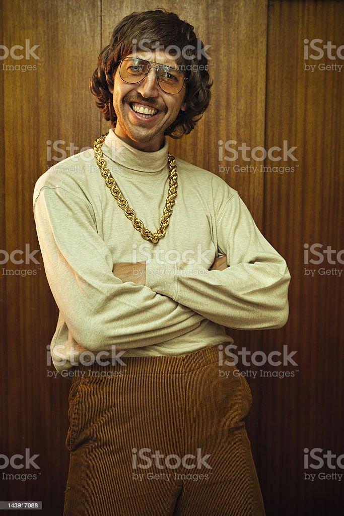 Charme retrô homem com bigode - foto de acervo