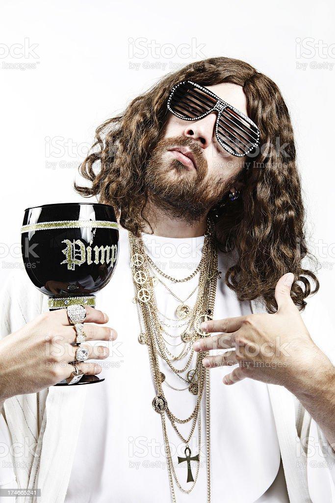 Bling-Bling Jesus stock photo