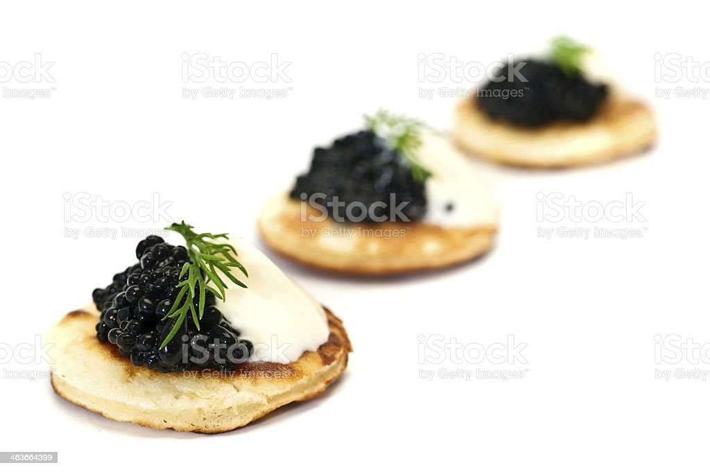Blinis with Caviar stock photo