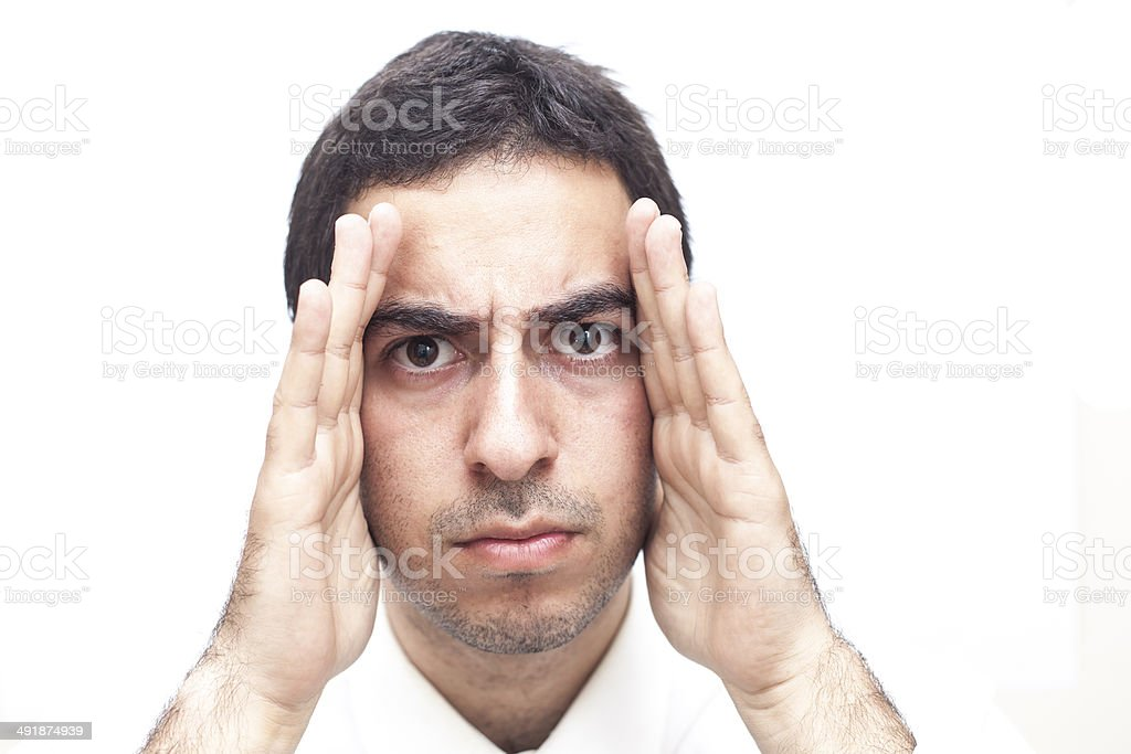 Blinkered Businessman stock photo