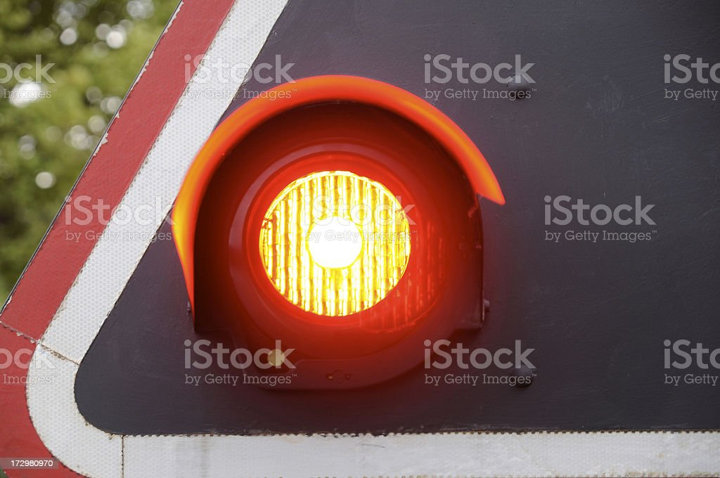 blinking railway signal stock photo