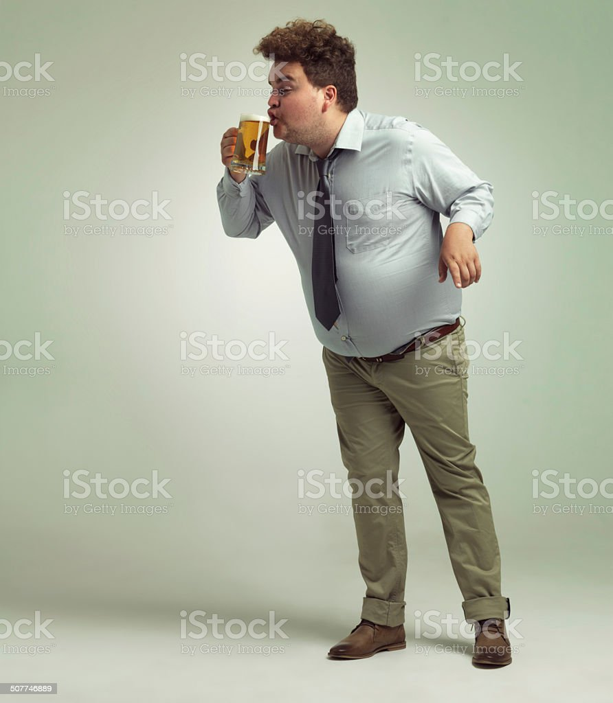 Bliss in that first sip stock photo