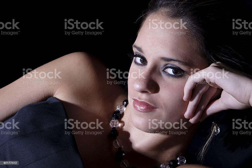 Bliss: Sly smile. stock photo
