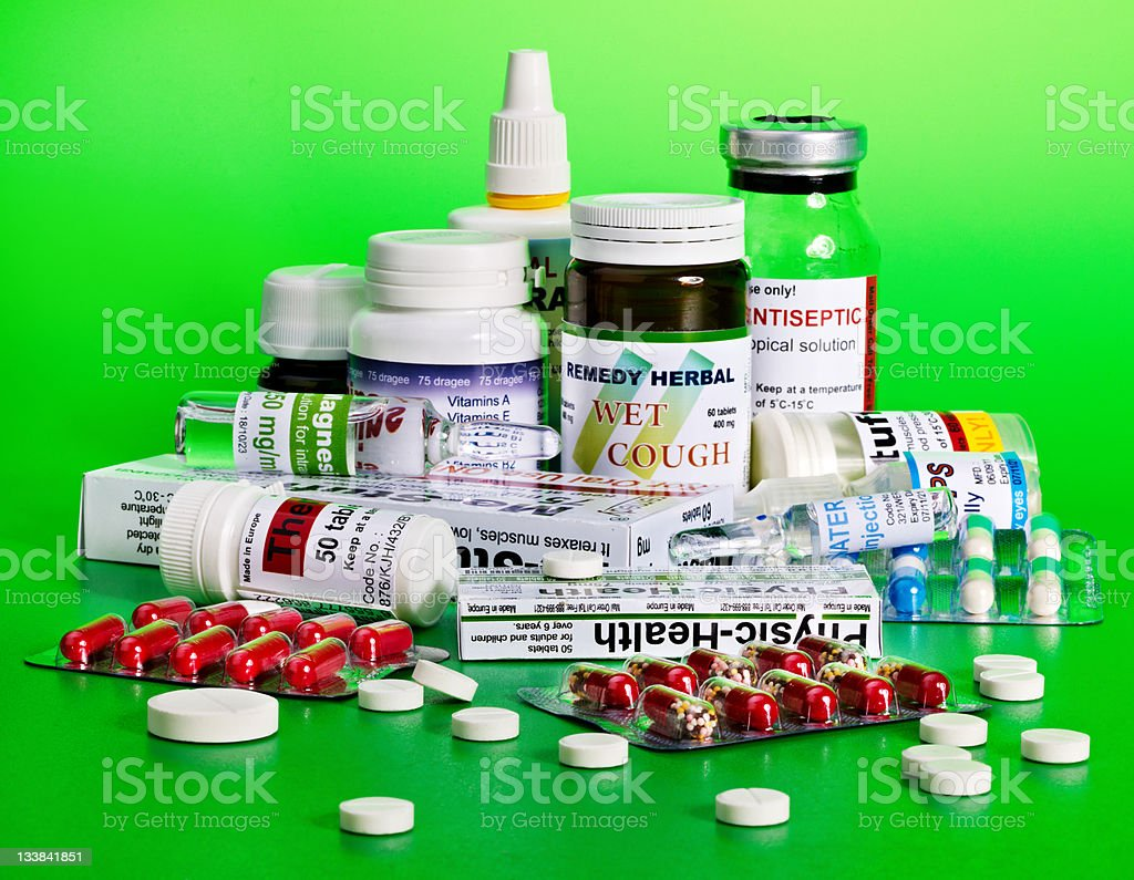 Blister pack of pills. Remedy. royalty-free stock photo