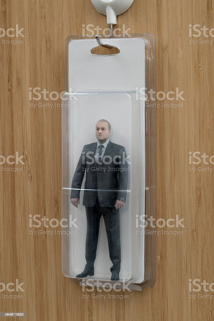 Blísteres envasados ejecutivo de acción figura - foto de stock