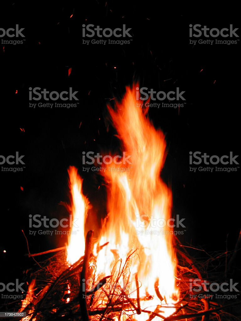 Blistering Fire royalty-free stock photo