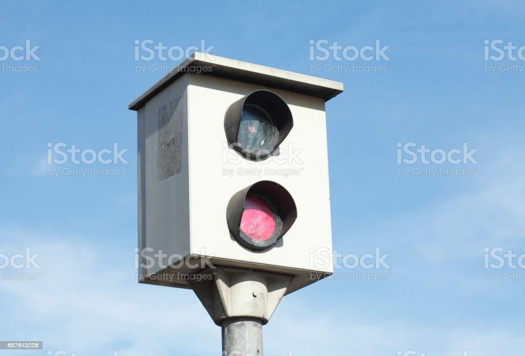 Blitzanlage, Geschwindigkeitskontrolle, Verkehrsüberwachung - foto stock
