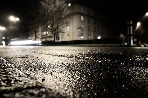 Blitzeis black ice Nacht Gefahr road – Foto