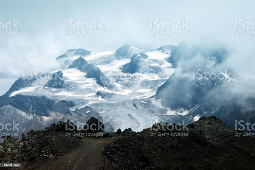 blizzard in the Alps royalty-free stock photo