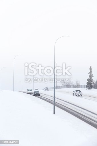 1127834626 istock photo Blizzard on the highway 933044228