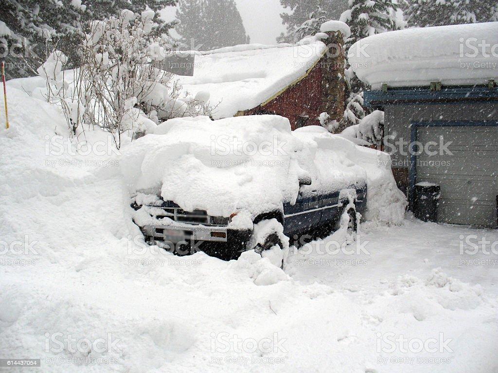 Blizzard Truck stock photo