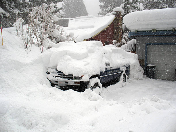 blizzard truck - blizzard stock photos and pictures