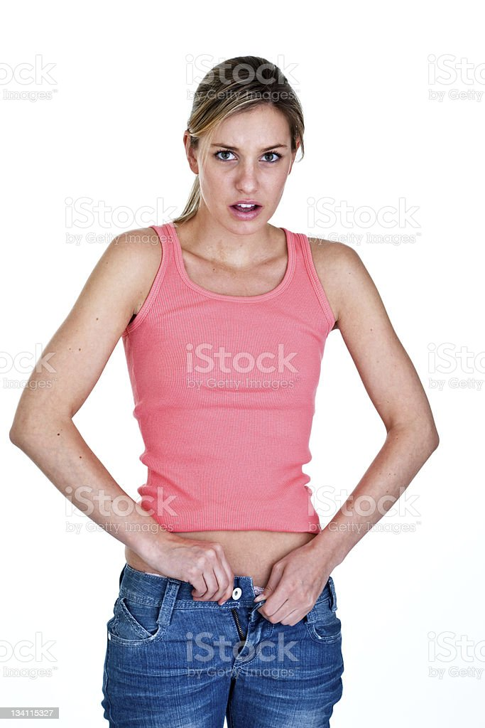 Bloated woman royalty-free stock photo