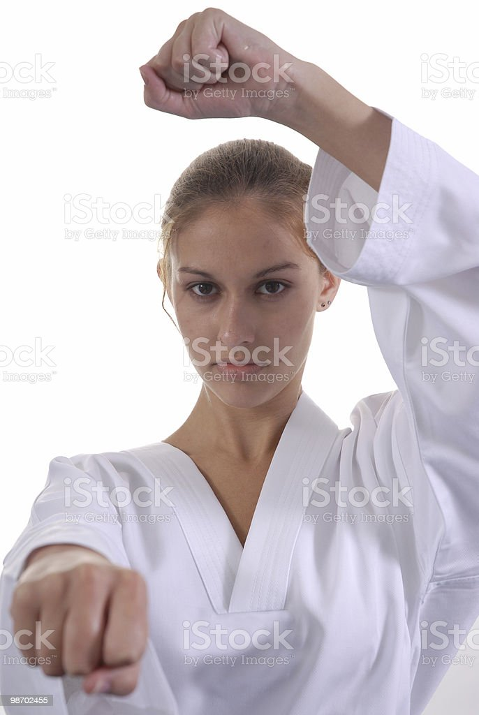 Block and strike royalty-free stock photo