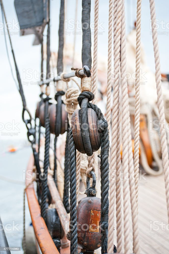 Block and tackle stock photo