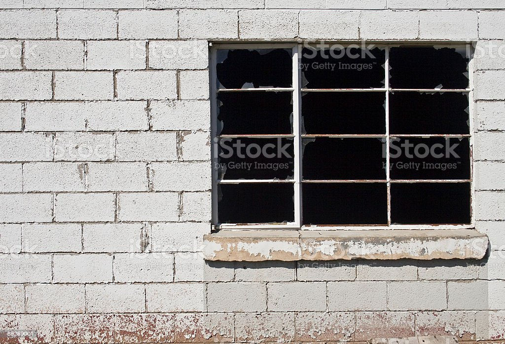 block and window royalty-free stock photo
