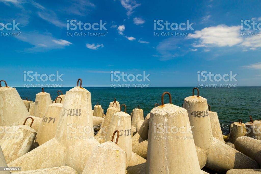 block break water at baltic sea, Kolobrzeg, Poland – zdjęcie