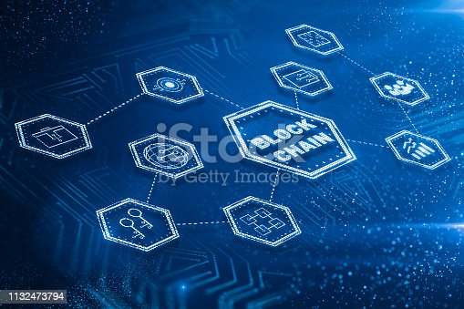 1177116437 istock photo Block chain and technology concept 1132473794