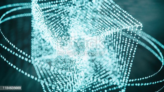 istock Block chain  background 1154635669