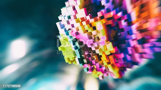 1155359725 istock photo Block chain colorful abs background 1173798938