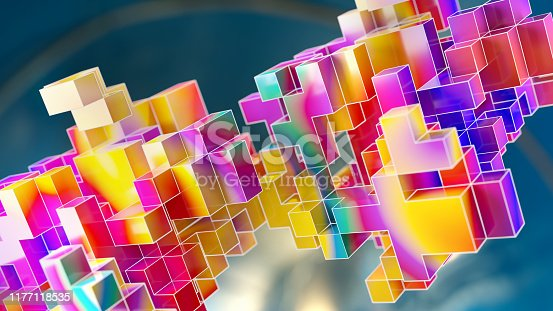1155359725 istock photo Block chain colorful abs background 1177118535
