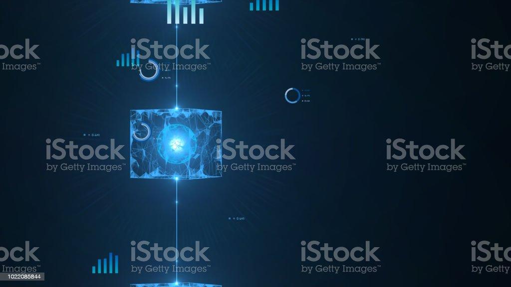 Block chain concept. stock photo
