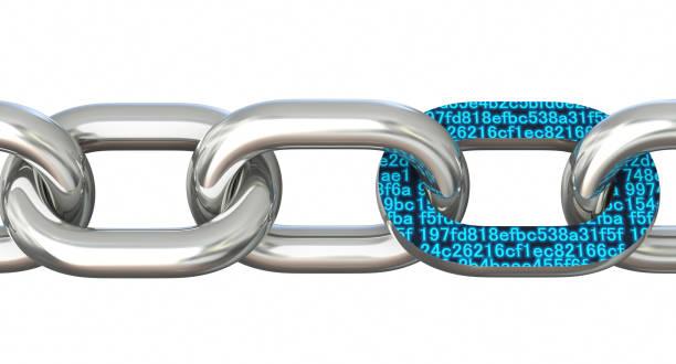 Block chain concept stock photo