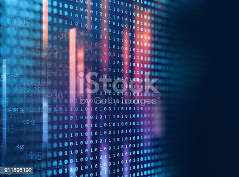 istock Block chain network concept on technology background 911895192