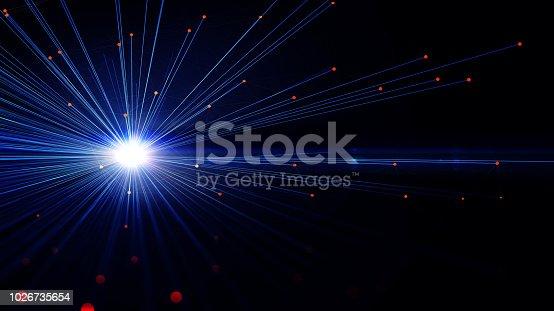 istock Block chain network 1026735654