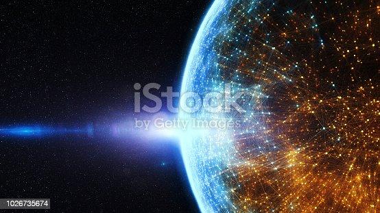 istock Block chain network 1026735674