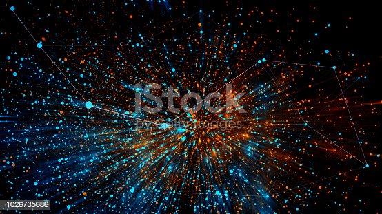 istock Block chain network 1026735686